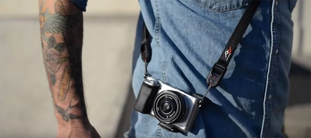 The Peak Design Leash. Ultralight, minimalist, and perfect for tiny cameras.