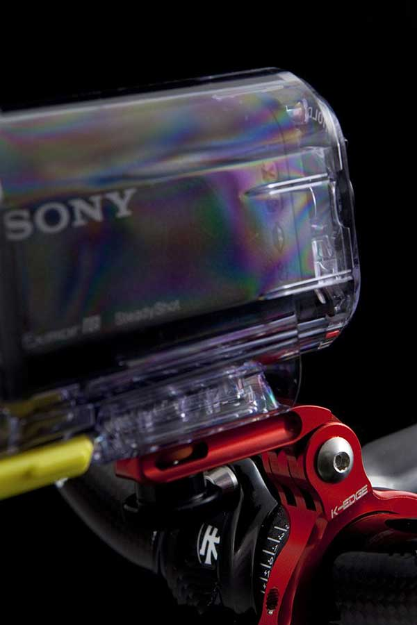 Sony X3000 on GoPro accessory mount