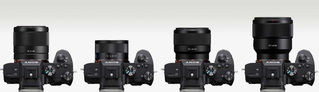 Smallest Sony FE mount full frame lenses