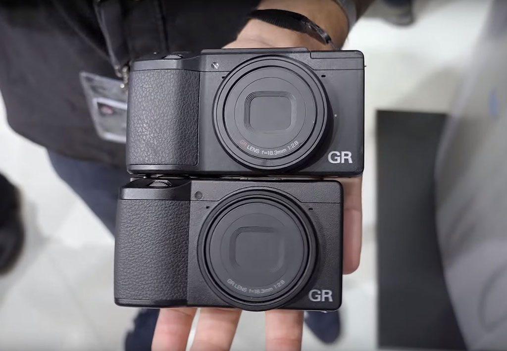 Ricoh GR III size vs GR II GRD IV