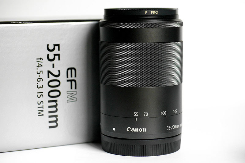 Canon EF-M 55-200mm compact telephoto prime lens for EOS M cameras