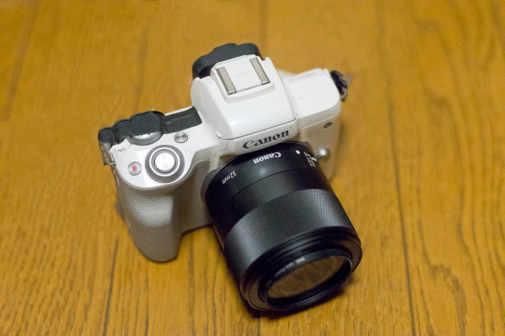 Canon M50 with EF-M 32mm f/1.4 prime lens
