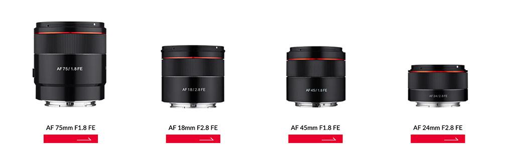 Smallest prime lenses for Sony Full Frame