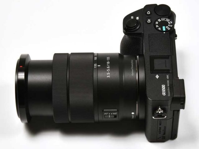 Size of Sony 18-135mm when fully zoomed out to 135mm