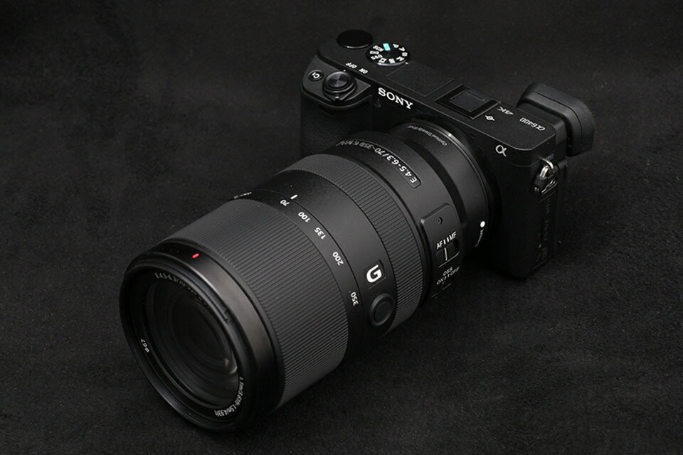 Sony 70-350mm size on Sony a6400